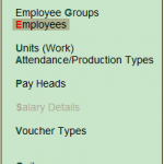 payroll menu in tally