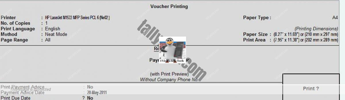 How to Print Axis bank  RTGS form direct from Tally