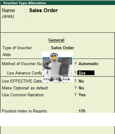 How to alter voucher Type