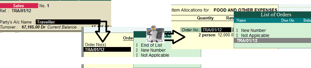 Item Allocations in Tally.ERP 9