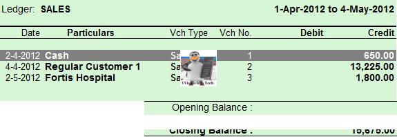 Hospital Accounts in Tally.ERP 9