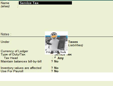 Service Tax in Tally.ERP 9
