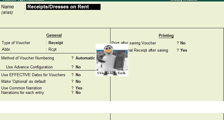 vouchertype accounting for garment