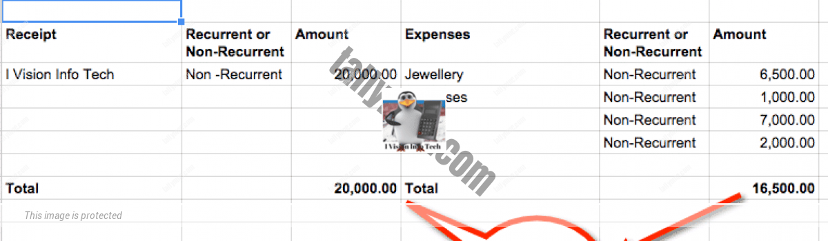 How an Art Student created her Balance Sheet with my help?