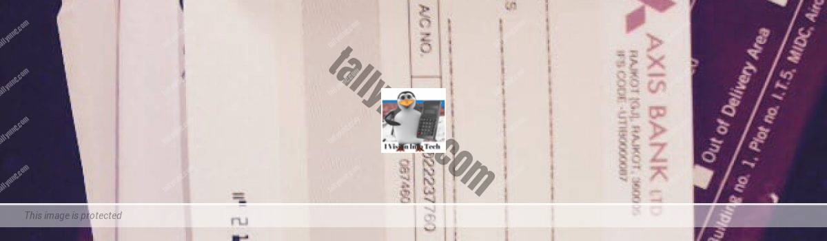 Post dated cheque in Tally.ERP 9
