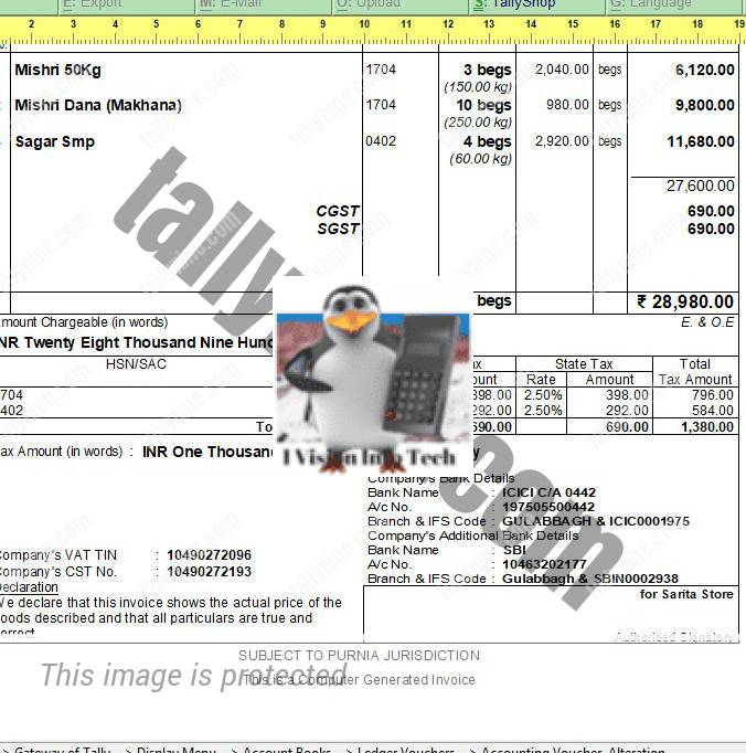 Additional Bank Details In Invoice Printing Students Project - Invoice with bank details
